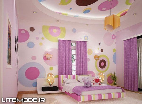 مدل دکوراسیون و طراحی جدید اتاق دخترانه ۲۰۱۳