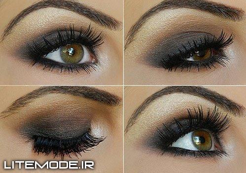 مدل آرایش سایه و خط چشم