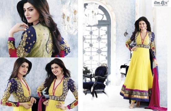لباس هندی زنانه طرح 2013