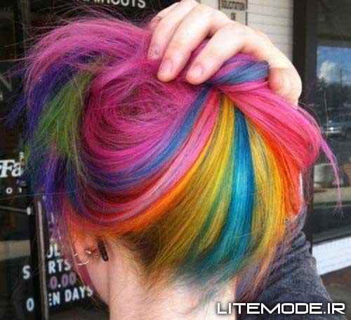 مدل رنگ موی فانتزی دخترانه