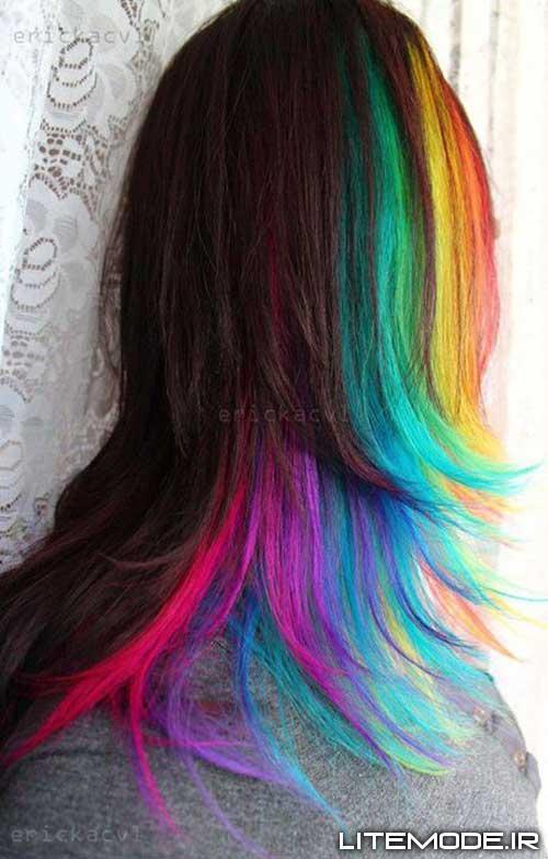 رنگ موهای دخترونه, رنگ موهای فانتزی و دخترونه, رنگ موی فانتزی دخترانه, مدل رنگ موی فانتزی, مدل رنگ موی فانتزی دخترانه