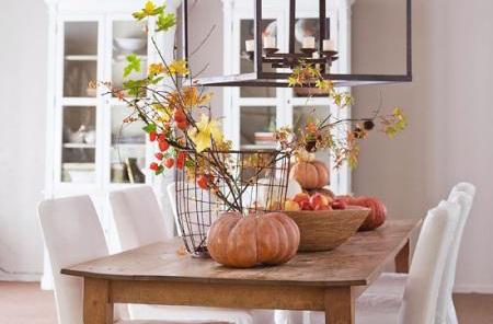 تزئینات ساده برای دکوراسیون پاییزی خانه