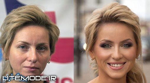 تغییرات شگفت انگیز خانمها با آرایش