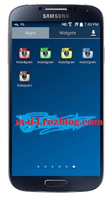 نصب همزمان 5 اینستاگرام در گوشی