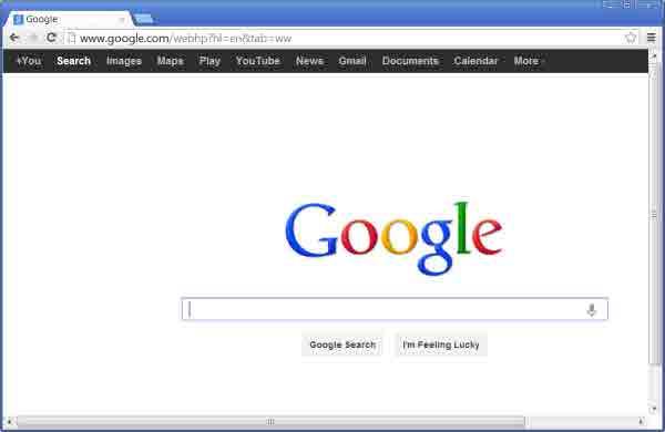 تغییر چینش گزینههای موجود در نوار سیاه رنگ گوگل