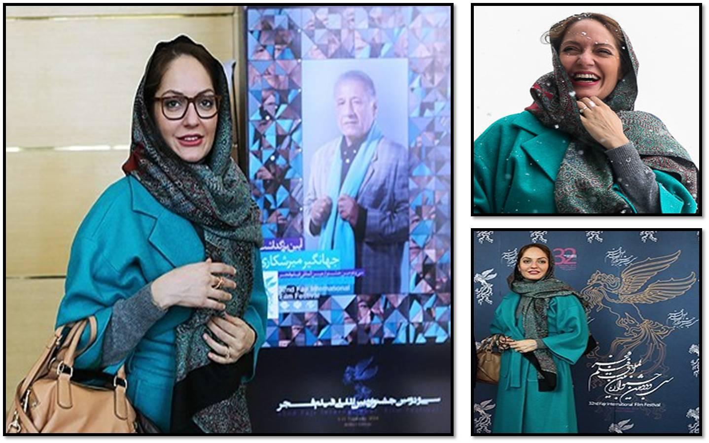 عکس های مهناز افشار در حاشیه روز چهارم جشنواره فیلم فجر