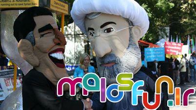 دست دادن روحانی و اوباما در خیابان نیویرک