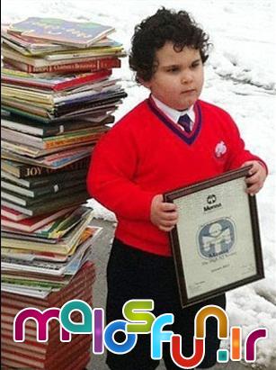 یک ایرانی خردسال ترین نابغه دنیا شد+عکس