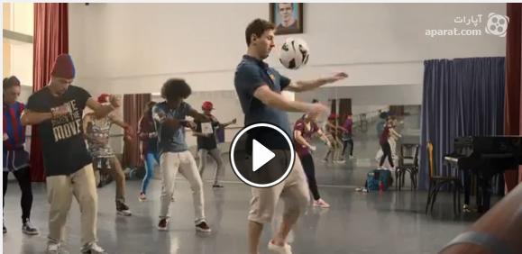 کلیپ تبلیغ  بسیار جالب بازیکنان بارسلونا برای شرکت هواپیمایی قطر ایر ویز