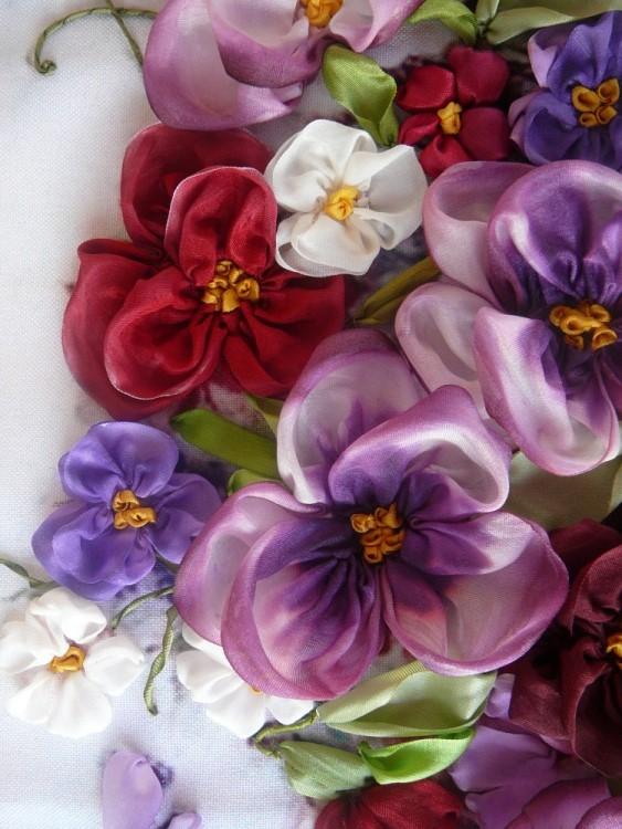 آموزش ساخت گل روبانی