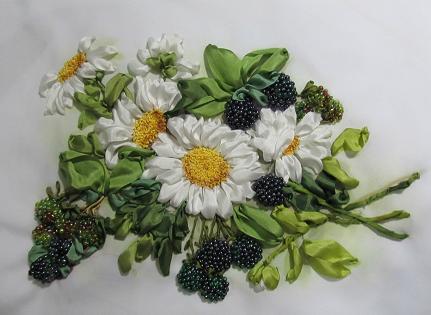 آموزش ساخت گل روبانی (گل مارگریت)