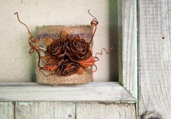 درست کردن تزئینات ساده و زیبا با استفاده از میوه کاج...