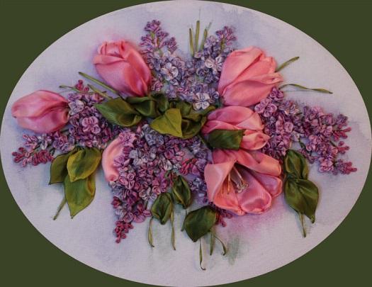 آموزش ساخت گل روبانی (گل لاله)