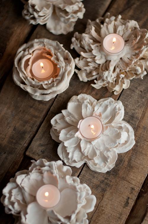 آموزش ساخت جاشمعی با گل های مصنوعی