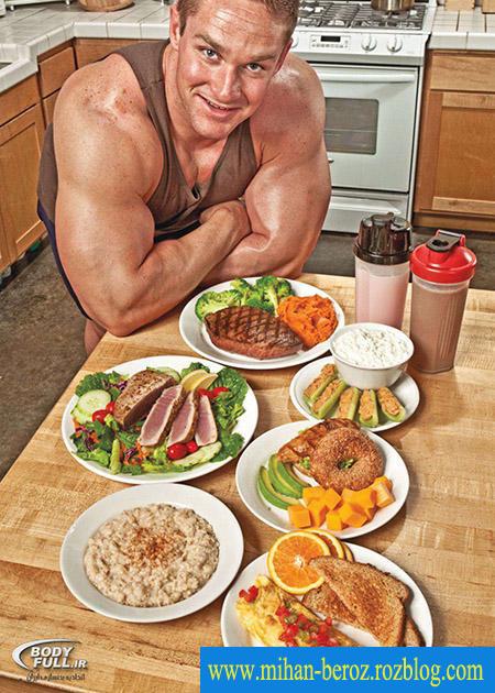 غذاهای عضله ساز برای مردان در ورزش بدنسازی