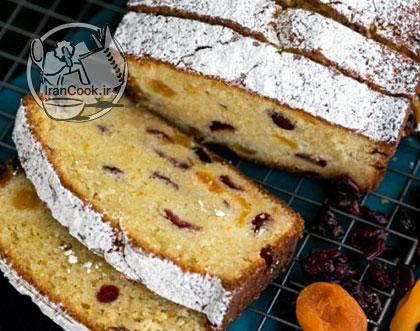 آموزش درست کردن کیک کشمش و آلو قیسی