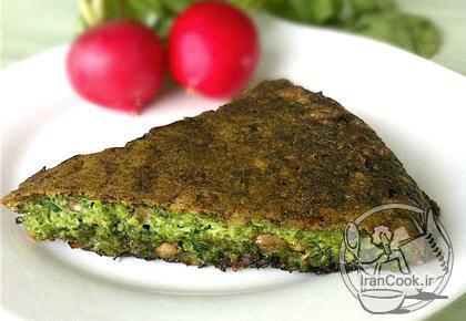آموزش درست کردن کوکو سبزی