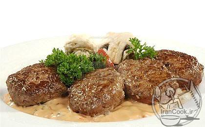 آموزش درست کردن کتلت گوشت و قارچ