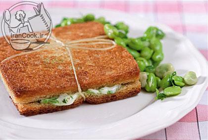 آموزش درست کردن اسنک باقلا سبز و پنیر