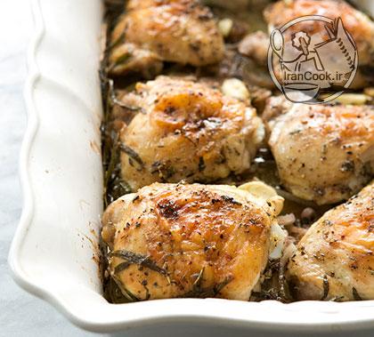 آموزش درست کردن خوراک ران مرغ و سیب زمینی