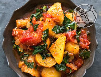 آموزش درست کردن خوراک سبزیجات