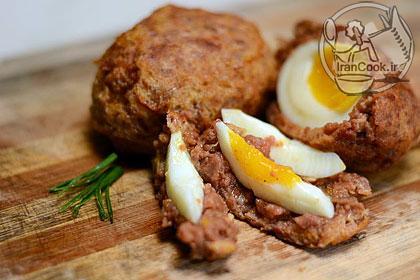آموزش درست کردن کوفته تخم مرغ و سوسیس