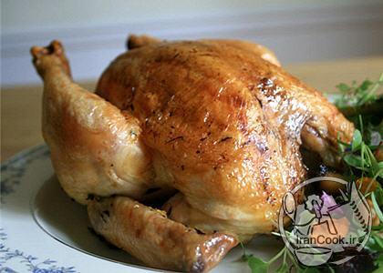 آموزش درست کردن مرغ شکم پر