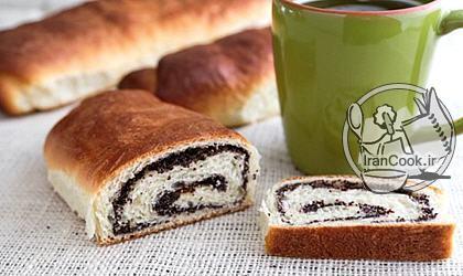آموزش درست کردن نان خشخاش رولتی