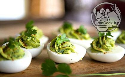 آموزش درست کردن اردور تخم مرغ و آواکادو