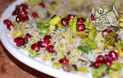 آموزش درست کردن انار پلو شیرازی