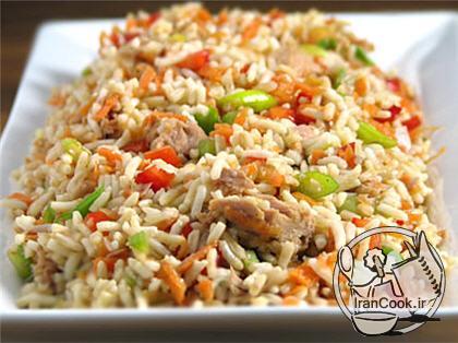 آموزش درست کردن برنج مخلوط سبزیجات چینی