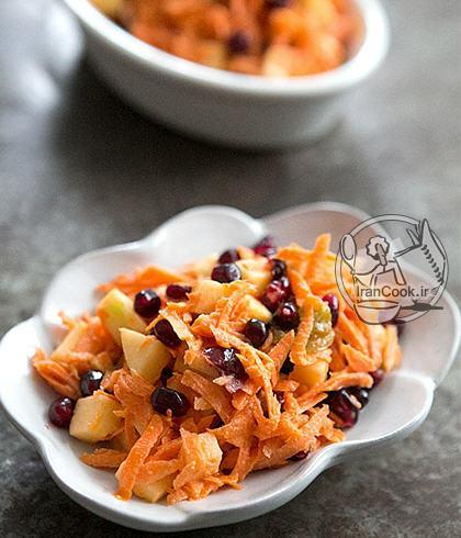 آموزش درست کردن سالاد هویج و انار