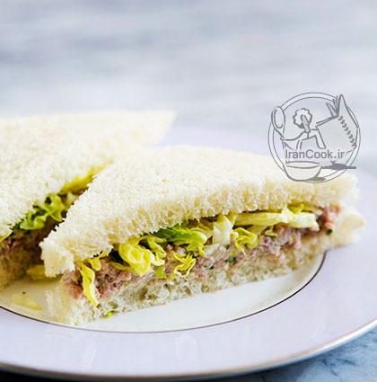 آموزش درست کردن ساندویچ ژامبون سرد