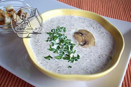 آموزش درست کردن سوپ قارچ خامه ای