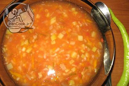 آموزش درست کردن سوپ گوجه فرنگی
