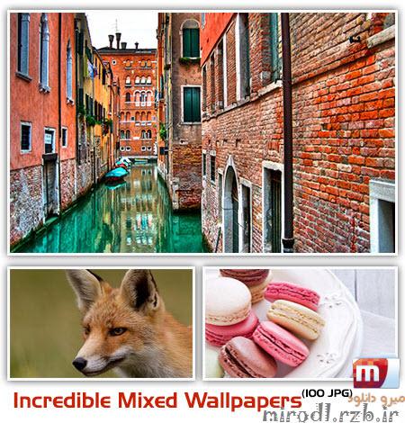 مجموعه ۱۰۰ والپیپر با موضوعات گوناگون Incredible Mixed Wallpapers