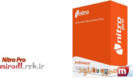 ساخت، ویرایش و تبدیل فایل پی دی اف با Nitro Pro v9.5.0.20
