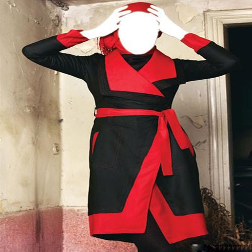 مدل مانتو جدید قرمز و سیاه