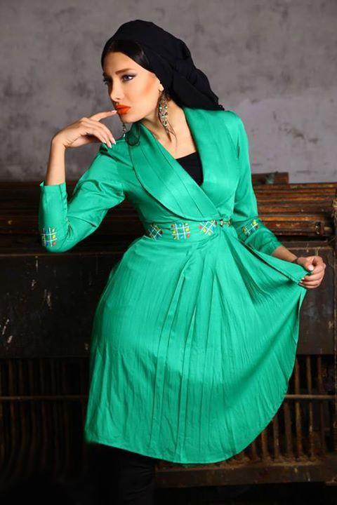 مدل مانتو مجلسی زنانه سبز
