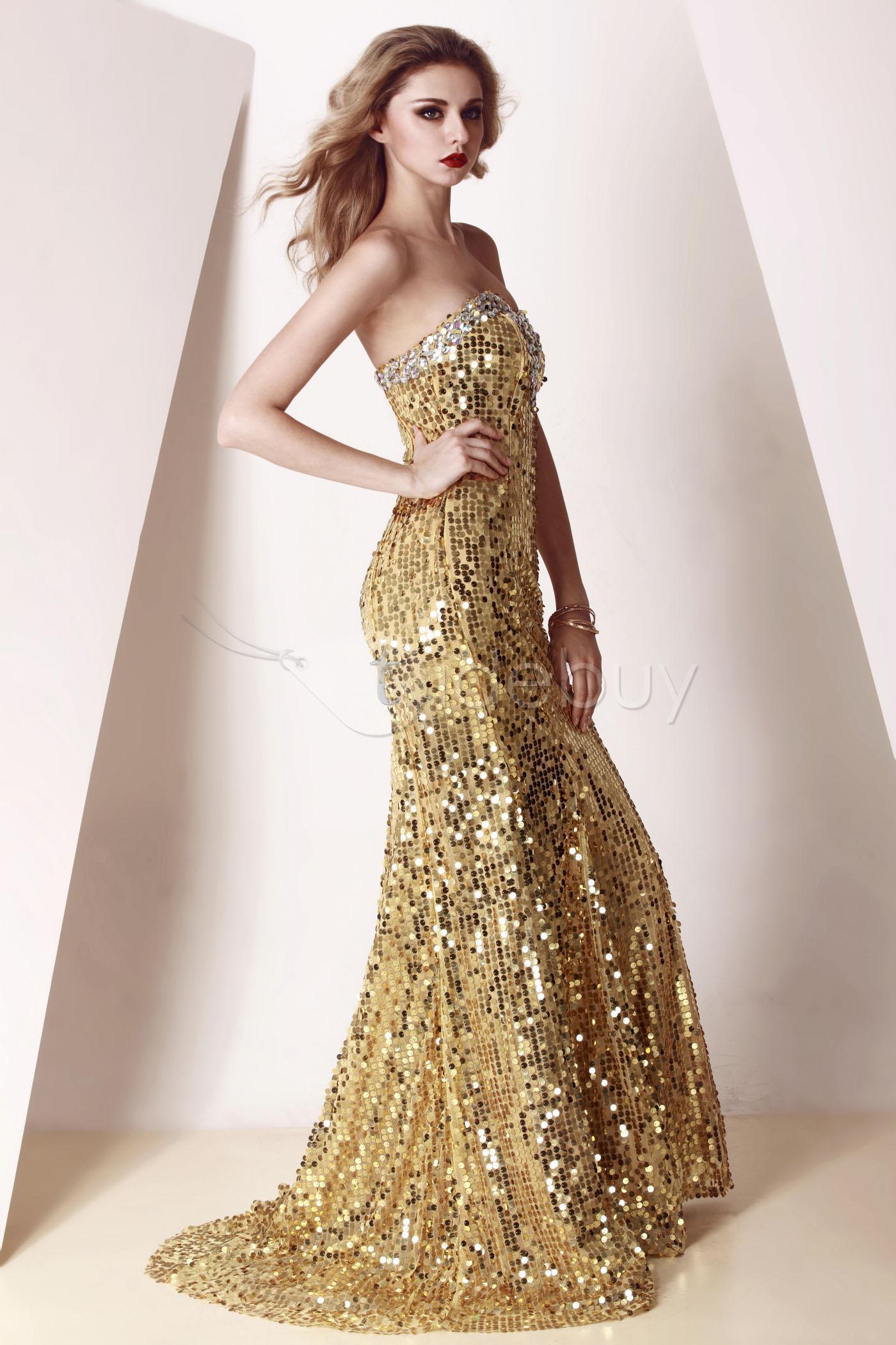 لباس طلایی مجلسی