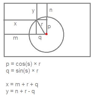 فرمول محاسبه top و left