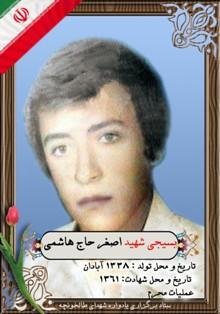 شهید اصغر حاج هاشمی