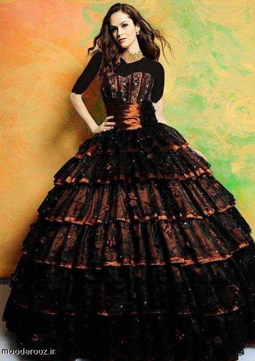 مدل لباس نامزدی رنگ بنفش2014