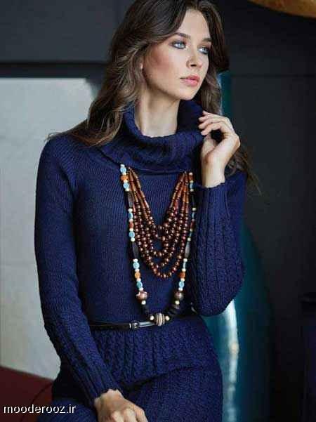 مدل جدید لباس بافتنی دخترانه و زنانه