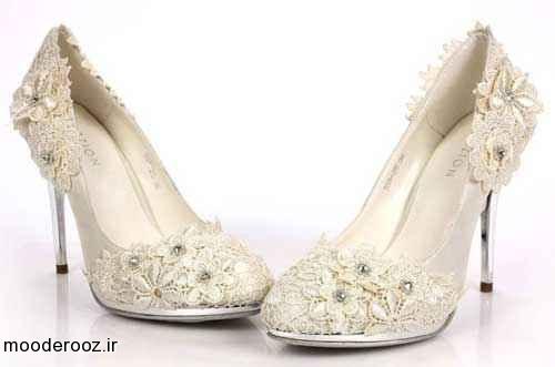 مدل های شیک کفش سفید عروس