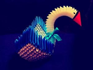 آموزش اوریگامی قو سه بعدی!