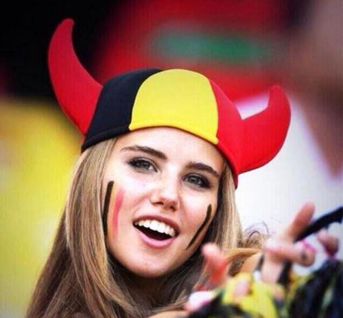 دختر تماشاچی بلژیکی زیباترین دختر جام جهانی 2014 برزیل+عکس