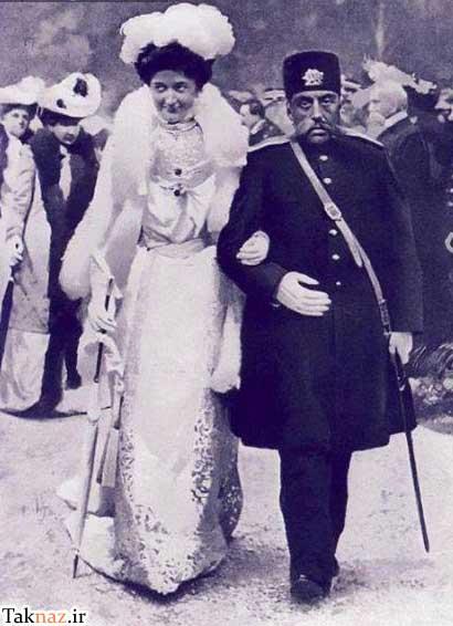 مظفر الدین شاه و هلنا ملکه ایتالیا - ایتالیا 1902