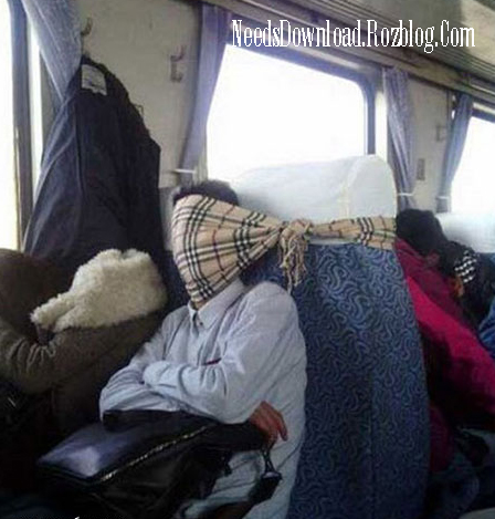 روش جدید خوابیدن در اتوبوس - needsdownload.rozblog.com