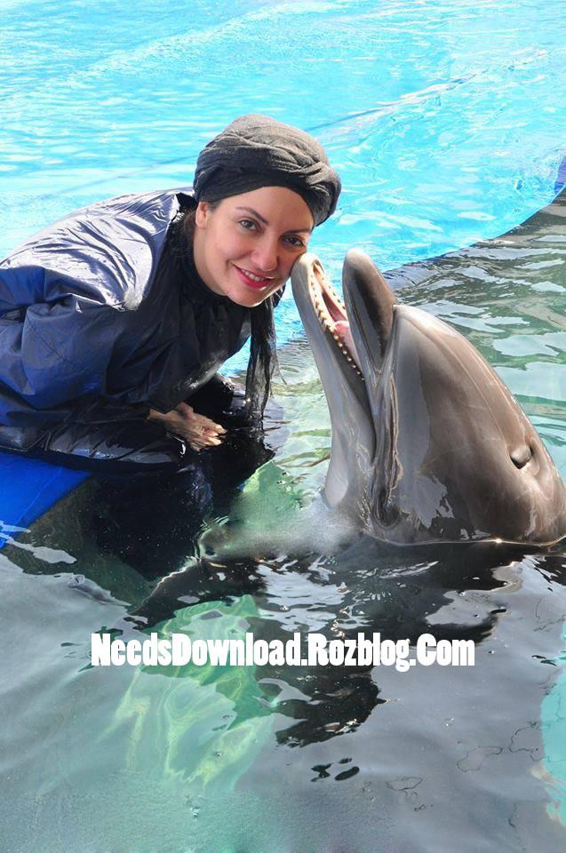 عکس لو رفته از مهناز افشار در استخر و در کنار دلفین ها - needsdownload.rozblog.com